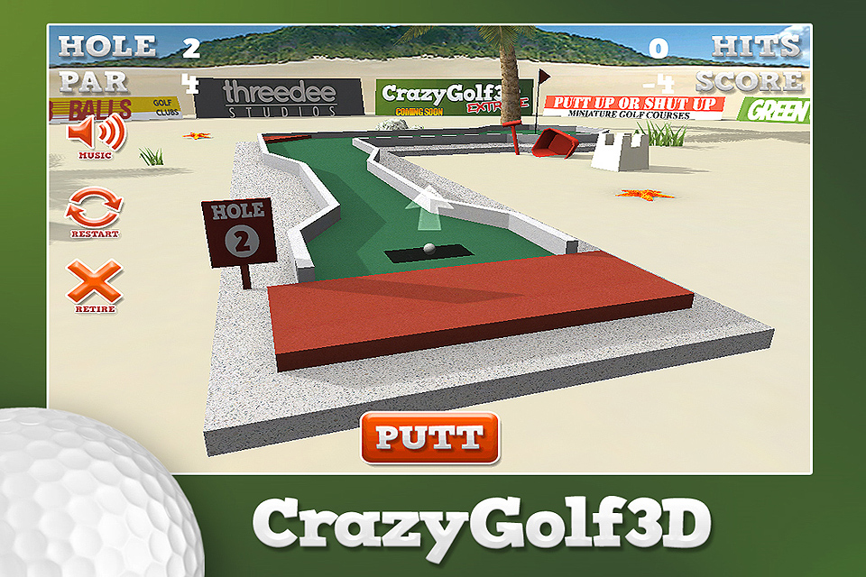 Screenshot CrazyGolf3D